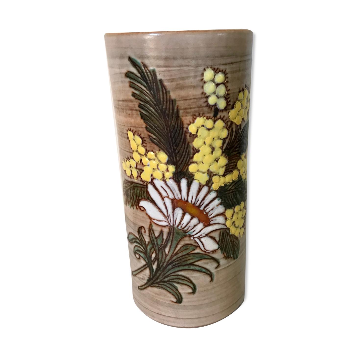 Vase au mimosa Fonck & Matéo