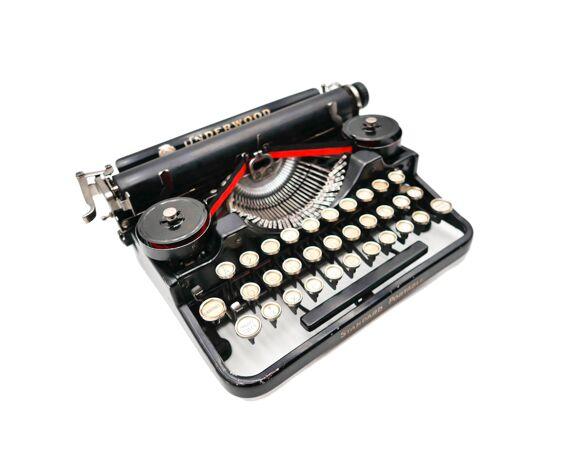 Machine à écrire underwood portable 3 bank noire révisée ruban neuf 1926