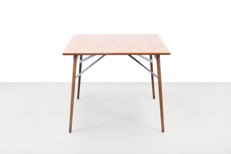 Table à rallonges de Borge Mogensen en teck et chêne par Soborg Mobler