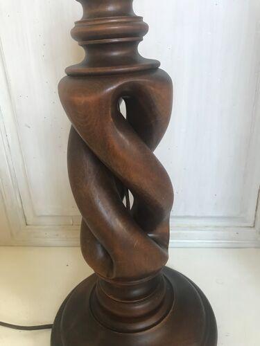 Vintage wooden lamp 47cm