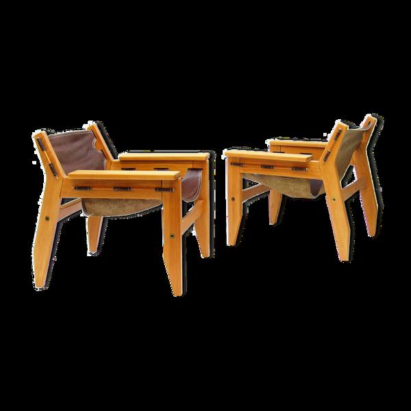 Paire de fauteuils «Kilin» des années 1970 par Sergio Rodrigues