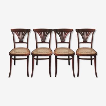 Série de 4 chaises Thonet 221