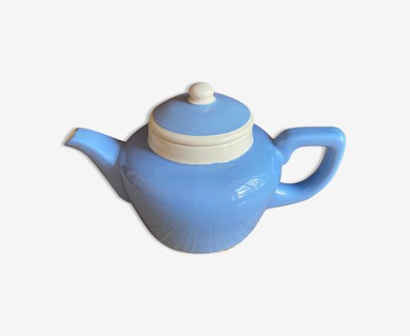 Théière Digoin Sarreguemines bleu et blanche