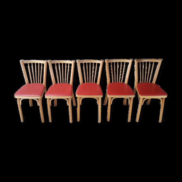 Selency Lot de 5 chaises bistrot Baumann n°12