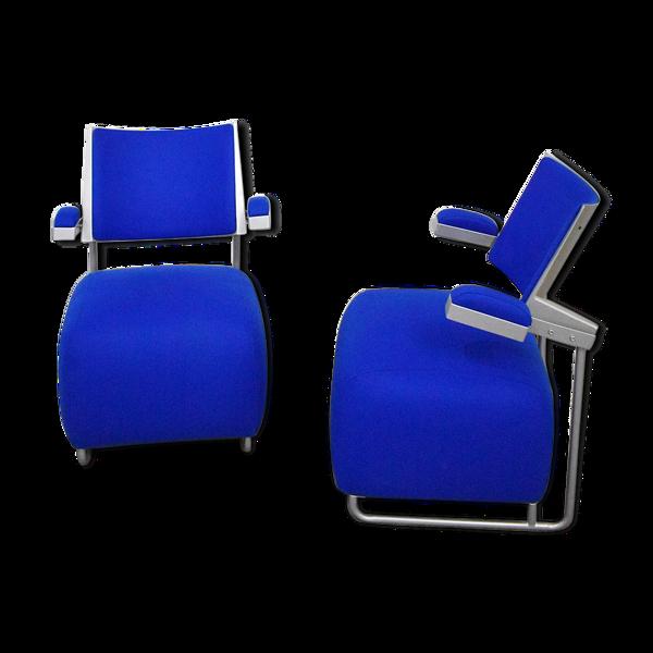 Paire de fauteuils postmodernes par Harri Korhonen pour Inno Finland 1990