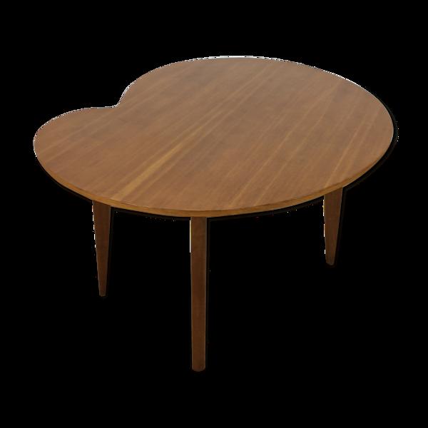 Table d'appoint haricot bois pied compas, années 50