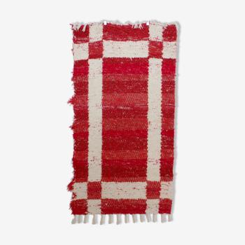 Tapis santiago - rouge - 65 x 120 cm
