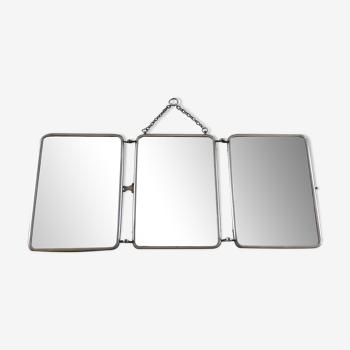 Miroir triptyque barbier 53x23cm