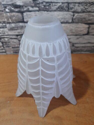 Tulipe de lampe blanche à facette plissés