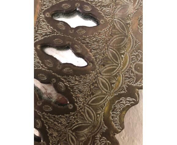 Ancien miroir oriental du début du XXe siècle - 35cm