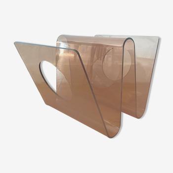 Porte-revue en plexiglass