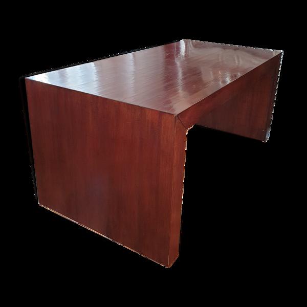 Selency Table de salle à manger en bois verni