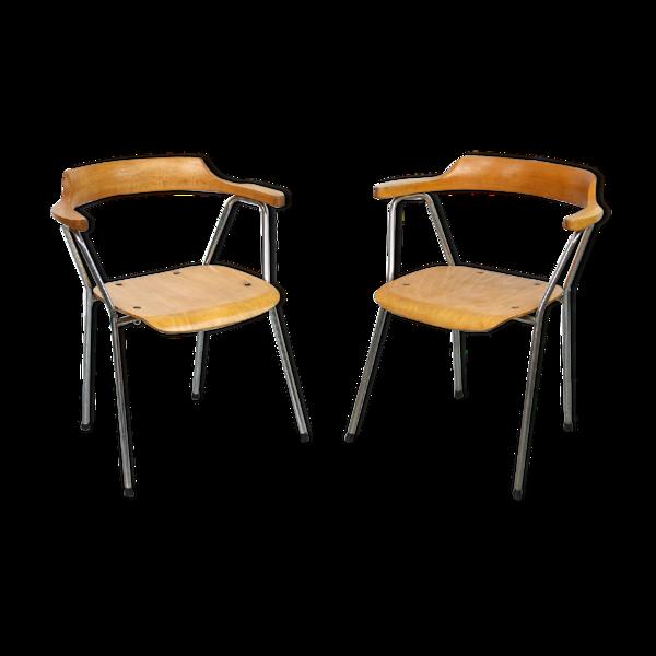 Selency Paire de chaises vintage 4455 de Niko Kralj pour Stol