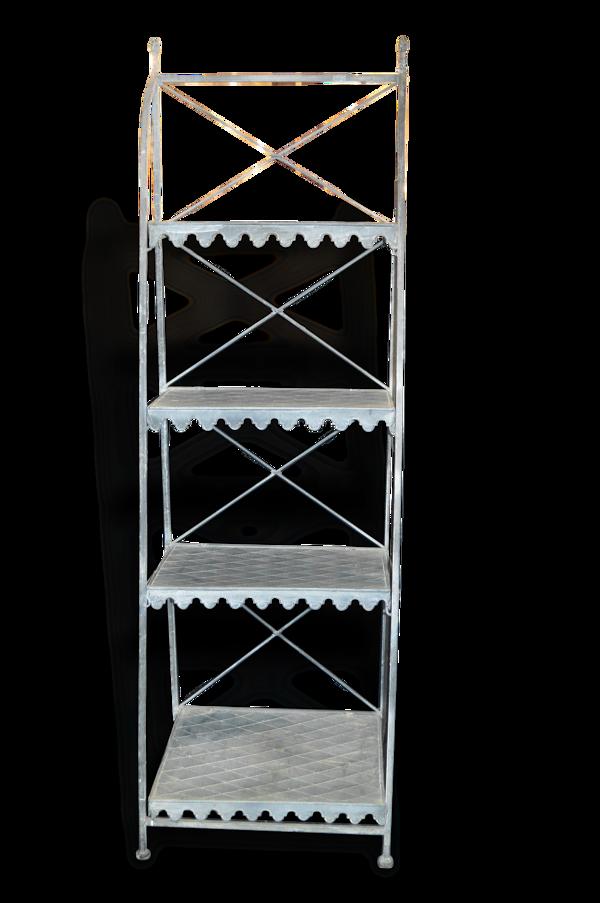 étagère pliante en fer patiné