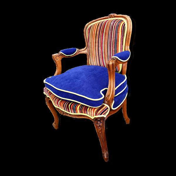 Fauteuil rénové Louis XV