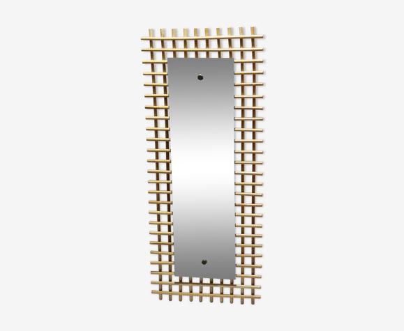 Miroir en bambou rotin rectangle
