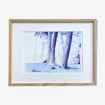 Foresta par Lilou, dessin unique et encadré
