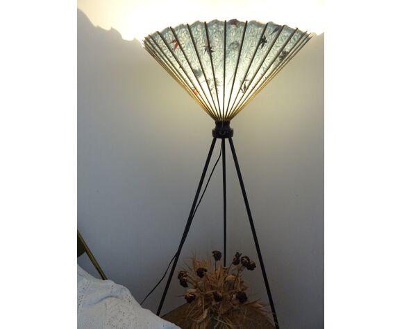 Lampe ombrelle japonaise vintage