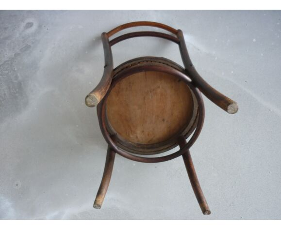 Chaise assise ronde sérigraphiée Fischel