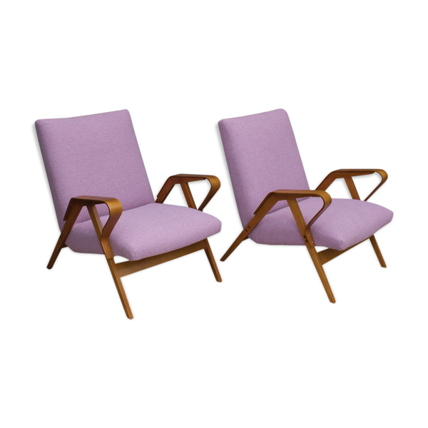 Selency Bentwood 24-23 armchairs by František Jirák for Tatra, 1960