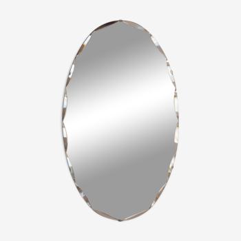 Miroir Art déco biseauté ovale