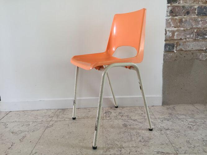 Chaise des ecoles orange pour enfant