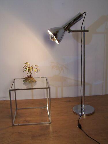 Lampe articulée en métal chromé