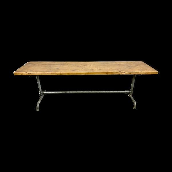 Table à manger industrielle, années 1960
