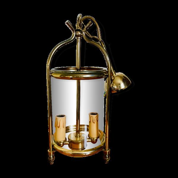 Lanterne cage en laiton doré Louis XVI