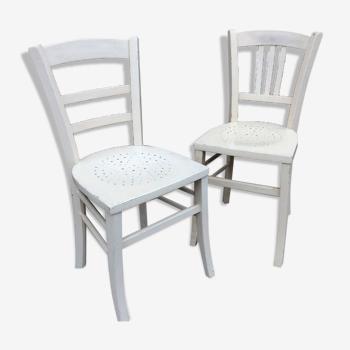 2 chaises bistrot brasserie