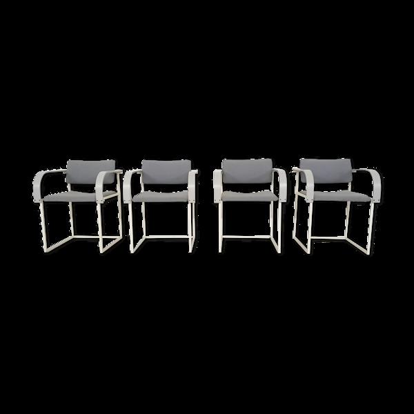 Ensemble de quatre chaises à manger FM80 par Pierre Mazairac et Karel Boonzaaijer pour Pastoe