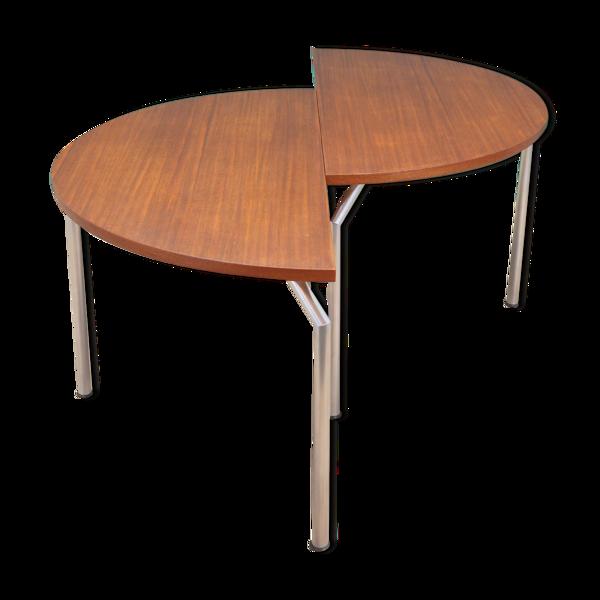 Table ronde en teck, design danois, années 1970, Bent Krogh