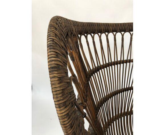 Armchair in rattan