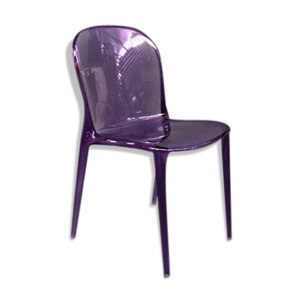Purple Thalya chair by Patrick Jouin for Kartell