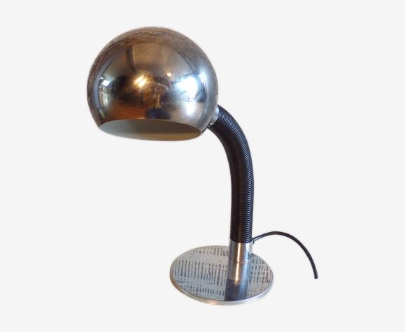 Lampe de bureau vintage métal chromé