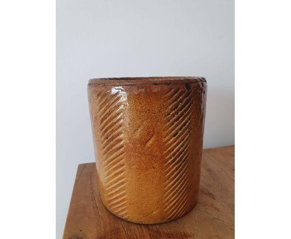 Old ceramic pot Flammite longchamp