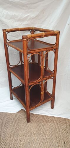 Rattan shelf from 1980