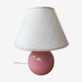 Lampe en céramique rose