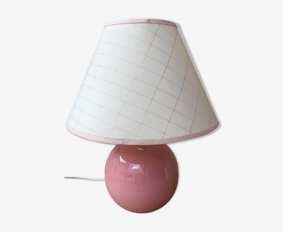 Pink ceramic lamp