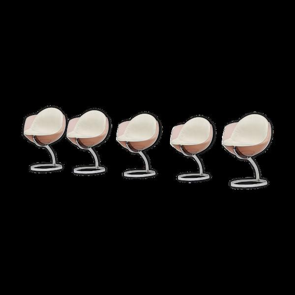 Selency 5 chaises sphère conçues par Boris Tabacoff