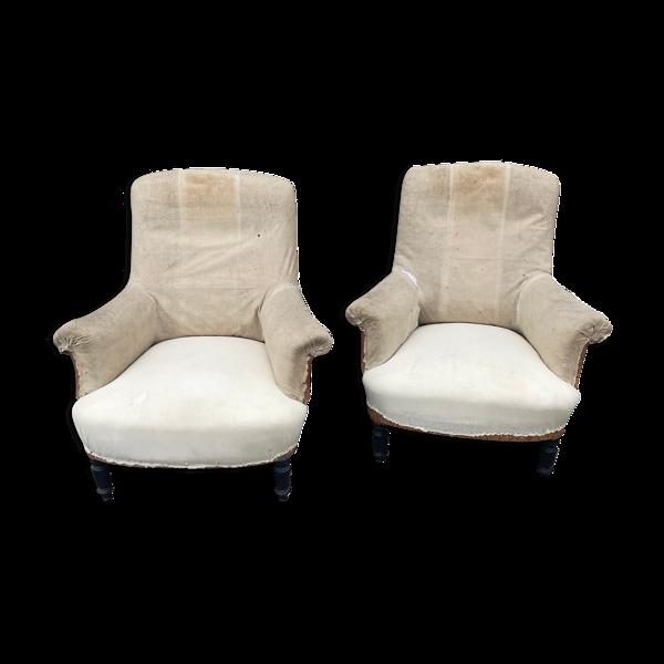 Paire de fauteuils anciens Napoléon III