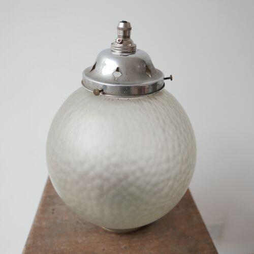 Lampe en verre diffus du milieu du siècle