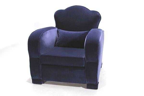 Paire de fauteuils clubs années 40 retapissés