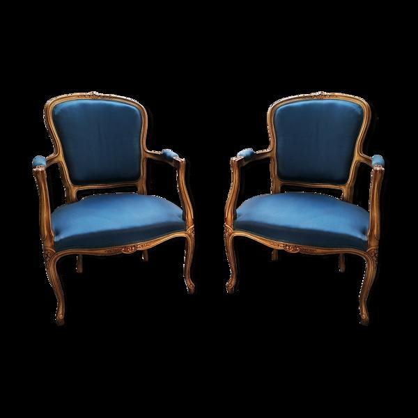 Paire de cabriolets Louis XV