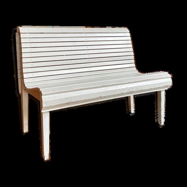 Selency Banc en bois blanc