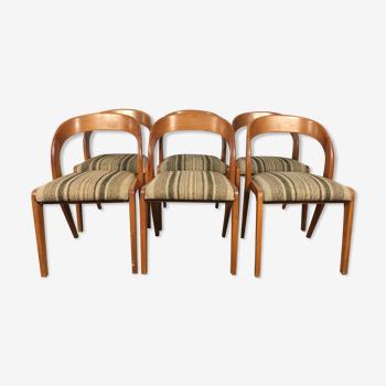 Suite 6 chaises Baumann «gondole»