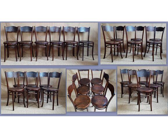 6 chaises viennoises Mundus & Hofmann 1910 ca