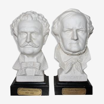 Sculpture biscuit buste signé G. bachman goebel w
