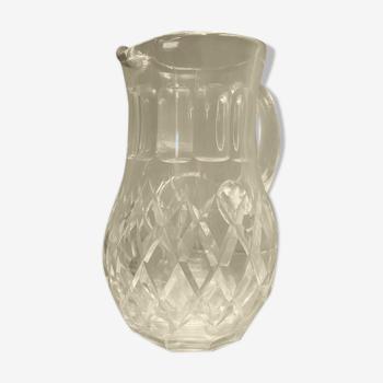 Broc pichet en cristal taillé