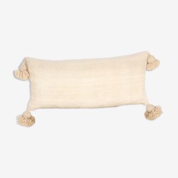 Coussin berbere ecru 65 x 30 cm